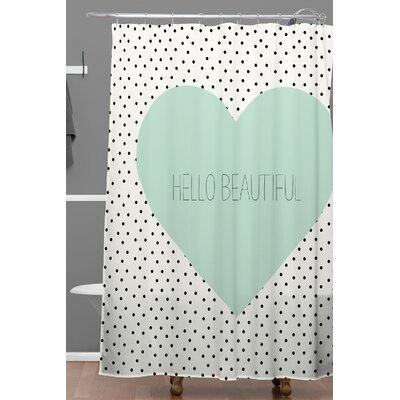 Hello Beautiful Heart Shower Curtain