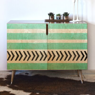 Stripes and Arrows Accent Cabinet
