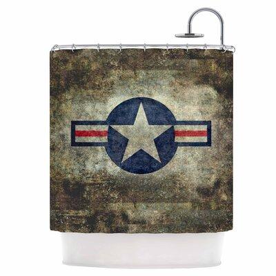 USAF Vintage Retro Style Round Shower Curtain