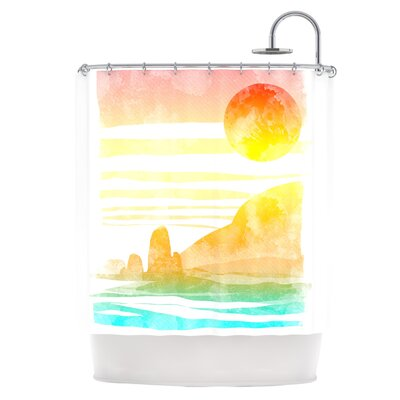 Landscape Painted with Tea Shower Curtain