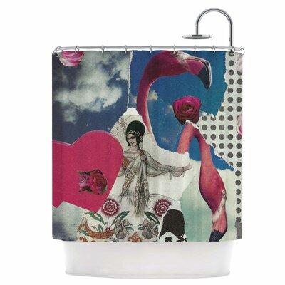 Flamingo Attack Shower Curtain