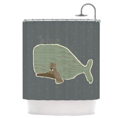Blue Whale Shower Curtain
