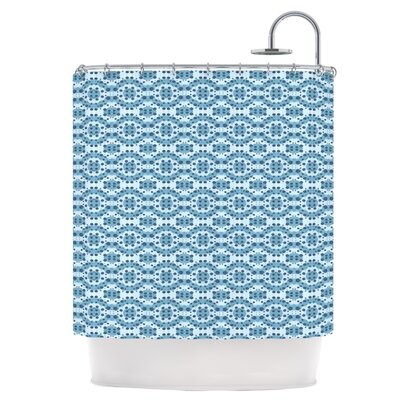 Blue Circle Abstract Shower Curtain