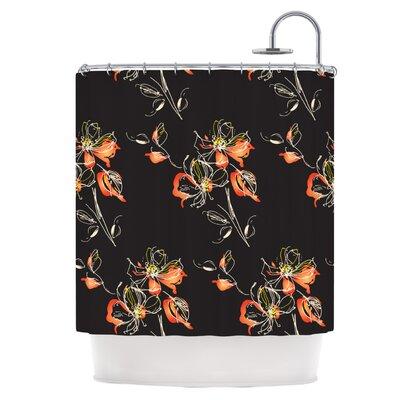 Blackflower Shower Curtain