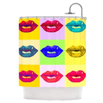 Pop Kiss Shower Curtain