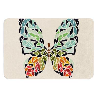 "Butterfly by Art Love Passion Bath Mat Size: 24"" W x 36"" L"