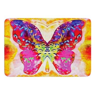 "Butterfly Spirit by Anne LaBrie Bath Mat Size: 24"" W x 36"" L"