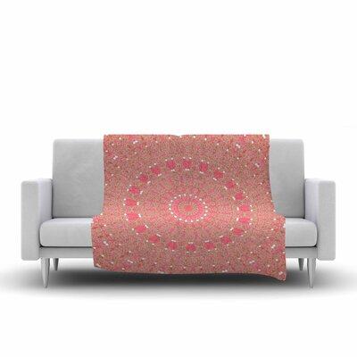 Sylvia Cook Boho Hearts Coral Fleece Blanket