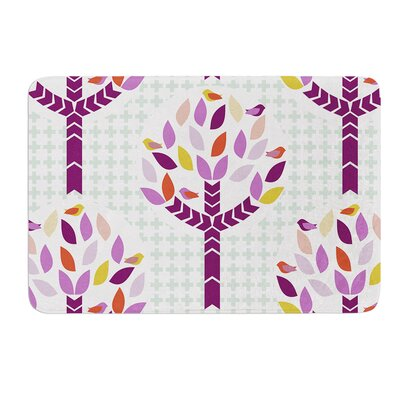 "Orchid Spring Tree by Pellerina Design Bath Mat Size: 17""W x 24""L"