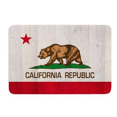 "California Flag Wood by Bruce Stanfield Bath Mat Size: 17""W x 24""L"