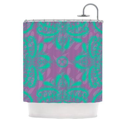 Motifs Shower Curtain Color: Green