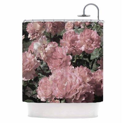 Blush Flowers Shower Curtain