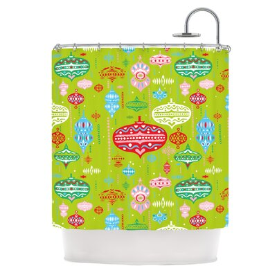 Ornaments Shower Curtain Color: Green