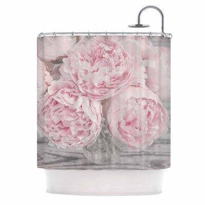 Peony Flowers Shower Curtain