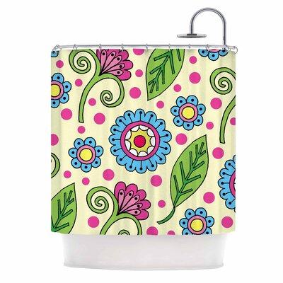 Polka Dot Garden Shower Curtain