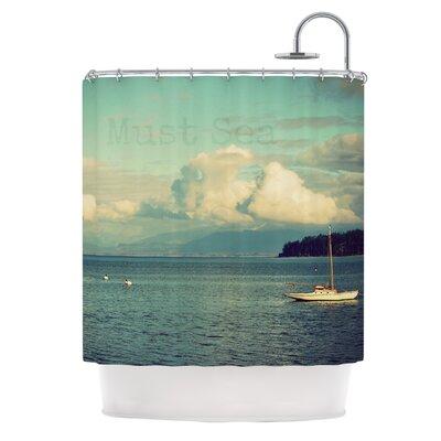 East Urban Home Sea Shower Curtain