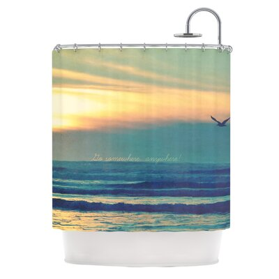 Go Somewhere Shower Curtain
