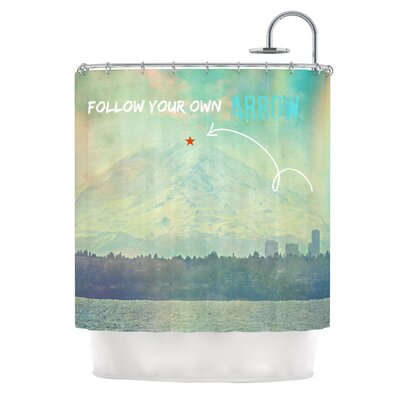 Follow Your Own Arrow Shower Curtain