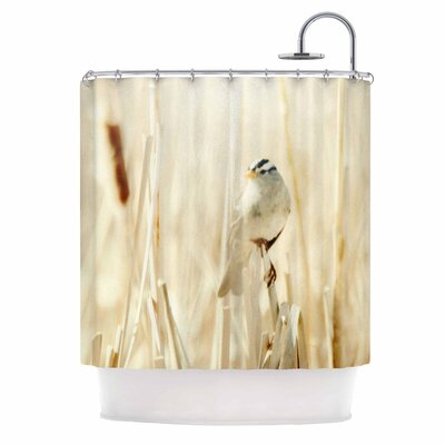 Bird in Ethereal Light Shower Curtain