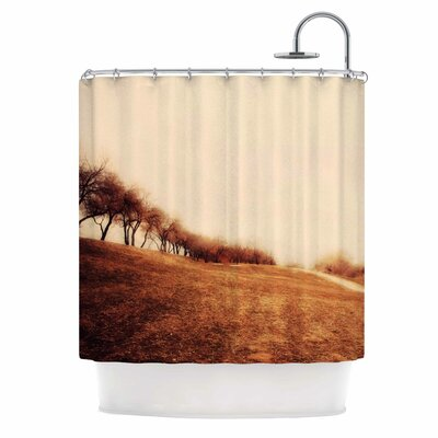 Minimalist Autumn Landscape Shower Curtain