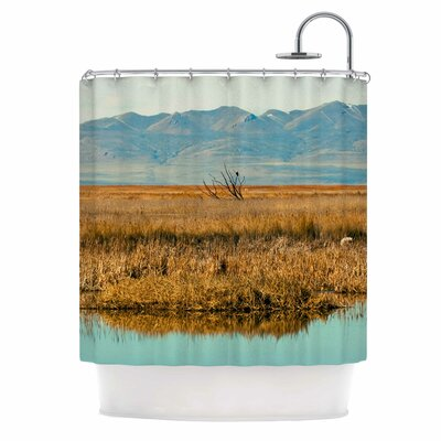 Reflective Landscape Shower Curtain