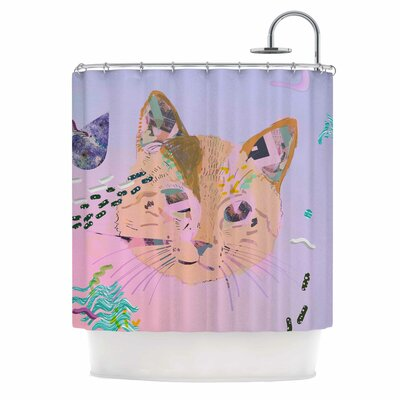 Psychedelic Cat Shower Curtain