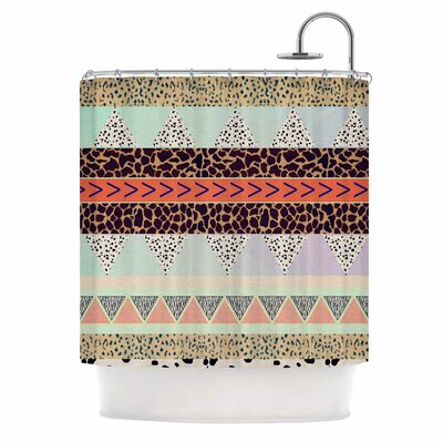 Animal Print Tribal Shower Curtain