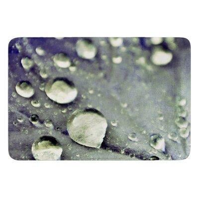 "Water Droplets by Iris Lehnhardt Bath Mat Color: Purple, Size: 24"" W x 36"" L"