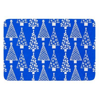 "Jolly Trees by Emine Ortega Bath Mat Color: Blue, Size: 24"" W x 36"" L"