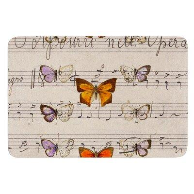Butterfly Opera by Suzanne Carter Bath Mat