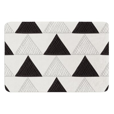 Textured Triangles by Laurie Baars Bath Mat Color: Black