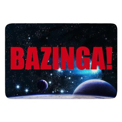 "Bazinga InHouse Bath Mat Color: Purple, Size: 17""W x 24""L"