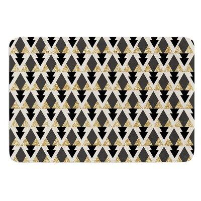 Glitter Triangles by Nika Martinez Bath Mat