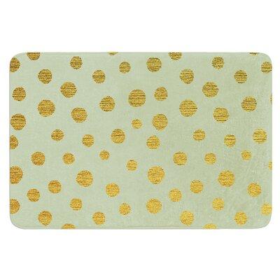Golden Dots by Nika Martinez Bath Mat