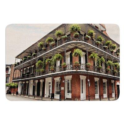New Orleans Street Corner by Sylvia Cook Bath Mat