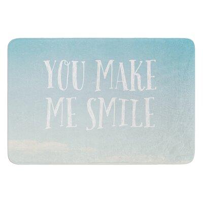 You Make Me Smile by Susannah Tucker Bath Mat