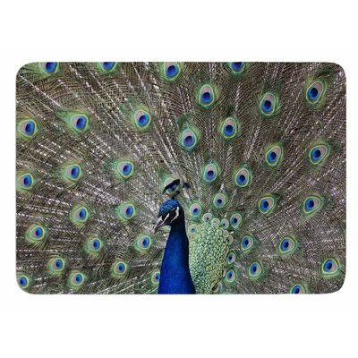 Peacock of Stunning Features by Qing Ji Bath Mat