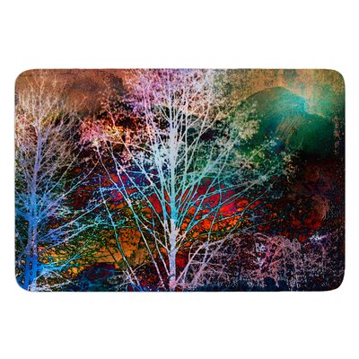 Trees in the Night by Sylvia Cook Bath Mat