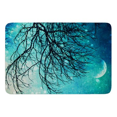 Winter Moon by Sylvia Cook Bath Mat