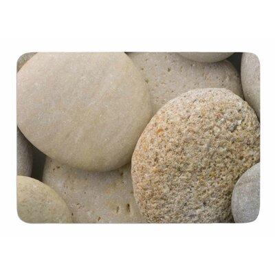 River Stones by Susan Sanders Bath Mat