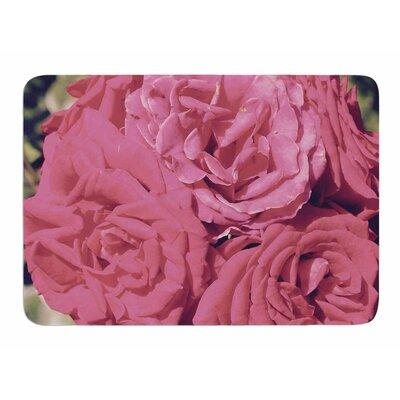 Blush Blooming Roses by Susan Sanders Bath Mat