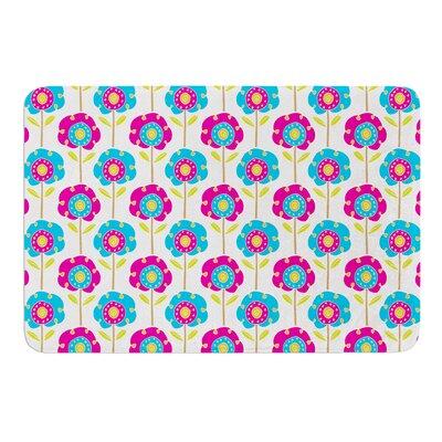 Lolly Flowers by Apple Kaur Designs Bath Mat