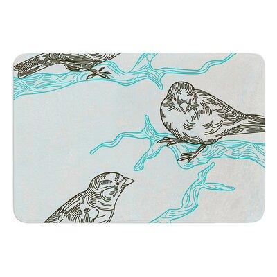 Birds in Trees by Sam Posnick Bath Mat