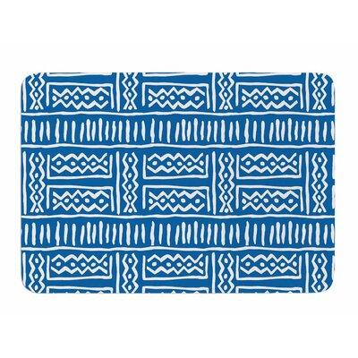 Lines and Zigzags by Dan Sekanwagi Memory Foam Bath Mat