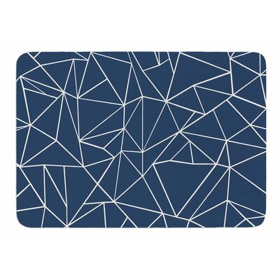 Abstraction Outline Navy by Project M Memory Foam Bath Mat