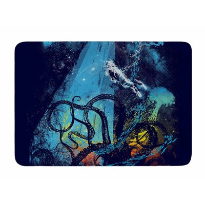 Danger from the Deep by Frederic Levy-Hadida Memory Foam Bath Mat