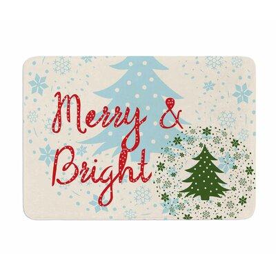 Merry and Bright by Famenxt Memory Foam Bath Mat
