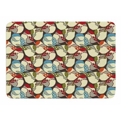 Chickadees by Amy Reber Memory Foam Bath Mat