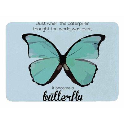 Blue Butterfly by NL Designs Bath Mat