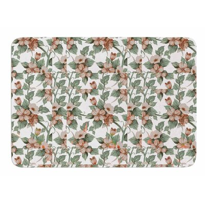 Vintage Flowers by Suzanne Carter Bath Mat